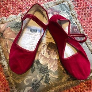 Euc Kung fu Mary Jane china doll flats